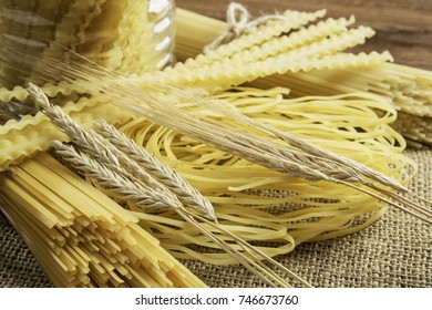 Close of yellow pasta