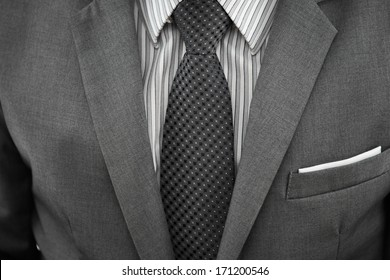 close up of young business man portrait