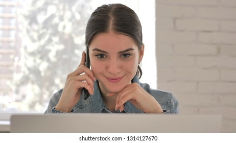 Close Up of Young Girl Talking on Phone, Discussion