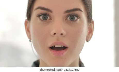 Close Up of Young Girl Wondering in Shock