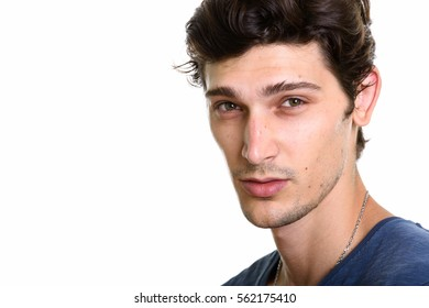 Close up of young handsome man