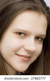 Close up of young, Ukrainian woman
