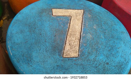 closec up of lucky number seven