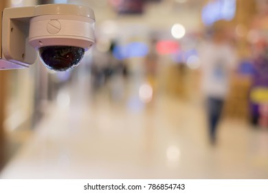 Close-curcuit television,Security CCTV in office blurred  background for save vedio anti theft and crime in place.