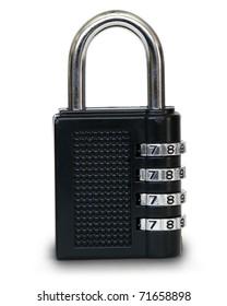 closed black padlock with drop shadow