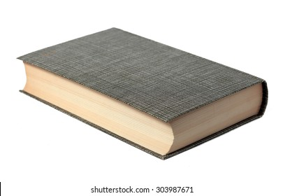 Closed book isolated on white