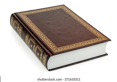 Closed book isolated on a white background