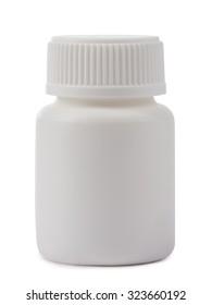 Closed bottle close up isolated on white background.