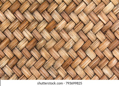 Closed up of brown color wicker textured background