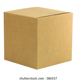 A closed cardboard box with workpath