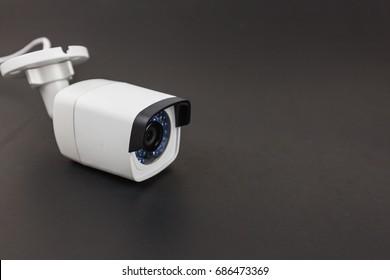 closed circuit camera,CCTV on black background