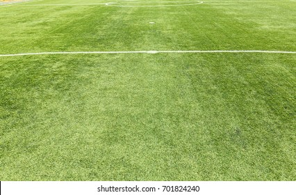 closed up corner in the soccer field or stadium field or football fiel