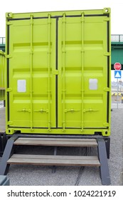 Closed Doors at Green Cargo Container