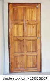 Closed door,wooden closed door
