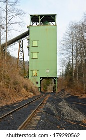 A Closed Down Coal Tipple with Empty Railroad Loading Track
