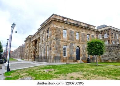 A closed down prison in Belfast