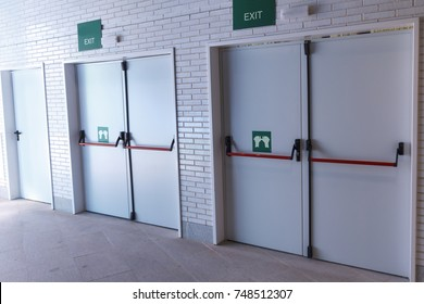Closed emergency exit doors, for quick evacuation