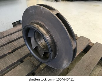 Closed impeller of multistage pumps, water pump for industrial process.