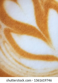 closed up of latte art coffee