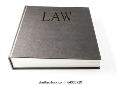 closed law book, on white