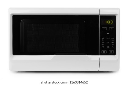 closed microwave isolated on a white background