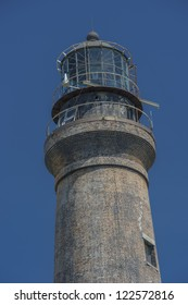 Closed up shot of the old Dry Tortugas lighthouse on Loggerhead Key