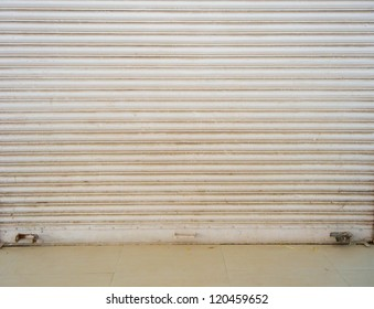 Closed Shutter Texture. Cosed Business or Design element. Concept.