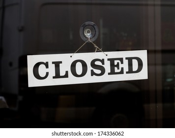 Closed Sign on a door