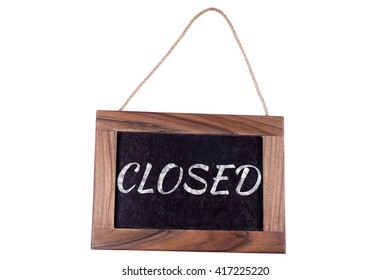 Closed. A sign on the door.