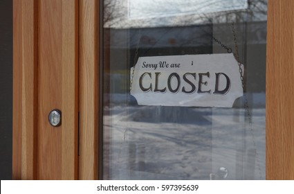 "Closed Sign ""Sorry We Are Closed"""