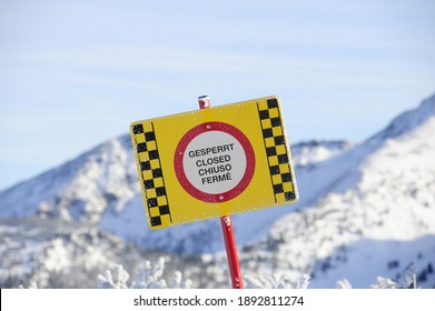 a closed ski slope in snowy landscape during winter holidays - Shutterstock ID 1892811274
