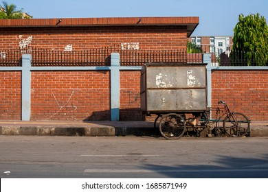 A closed street food cart due to covid-19 pandemic