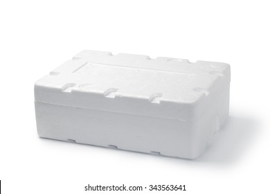 Closed styrofoam box
