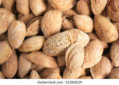 Closed up Texture of Almonds, in Thin-Shell Roasted, Pattern
