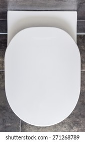 Closed Toilet, Top View