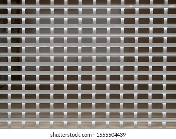 closed translucent metal protective shutter