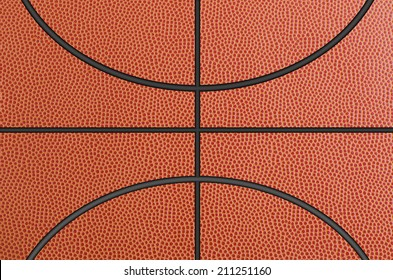 Closed up view of basketball for background.