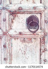 Closed Wood Door