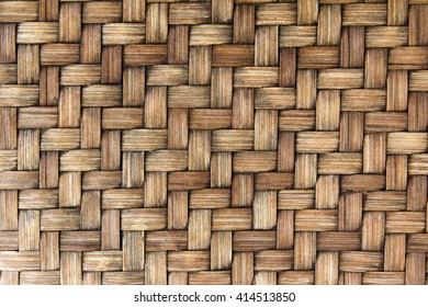 Closed up wooden wicker texture background