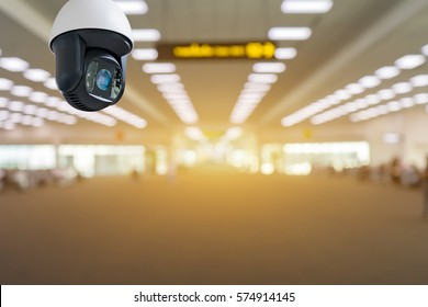 Closed-circuit television,Security CCTV camera or surveillance system in   background of Checkpoint - Body and bag Luggage Scan Machine ,Secure Airport Check In,vintage color