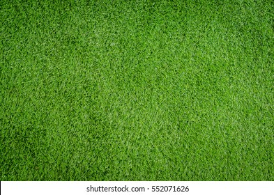 Closed-up of artificial green grass texture background