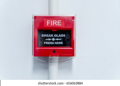 Closed-up of Fire alarm press machine.