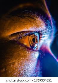 A closer look at the 576 megapixels human eye.