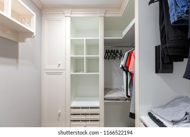 Closet in modern designed house