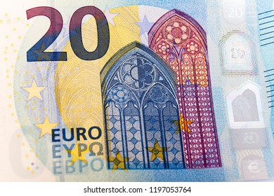 Close-up of 20 euros