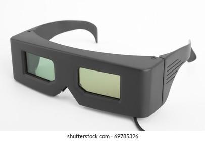 f77d88ff16 familia realidad virtual. Close-up of 3-D glasses - video games equipment