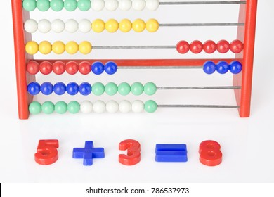 close-up of an addition with abacus