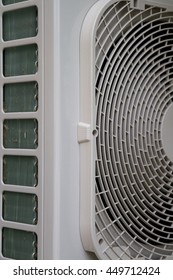 Close-up of an air conditioner