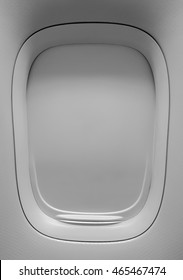 Closeup of the aircraft windows closed texture background.
