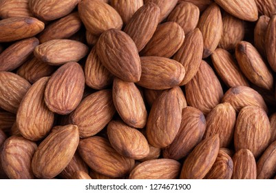 Close-up of Almond Kernels.